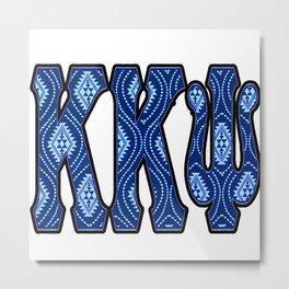 K K Psi Tribal Metal Print
