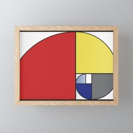 Mondrian vs Fibonacci Framed Mini Art Print