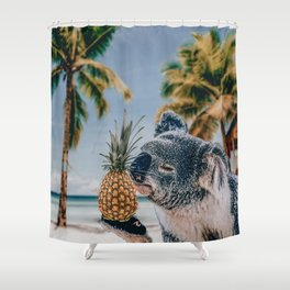 Koala in the beach Shower Curtain