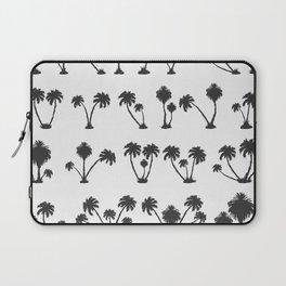 solar palm beach in a dark color Laptop Sleeve
