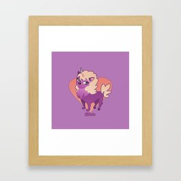 Caticorn Rainbow Framed Art Print