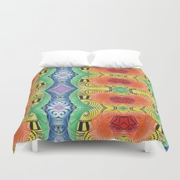 Rainbow Bash Duvet Cover