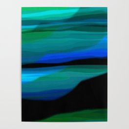 Capture the Moment Landscape in Shades of Green and Blue Poster
