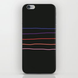 Abstract Retro Stripes #4 iPhone Skin