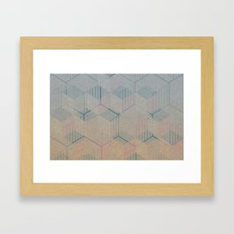 Multi-dimensional cubes Framed Art Print
