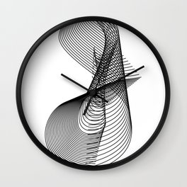 """""""Script Collection"""" - Minimal Letter S Print Wall Clock"""