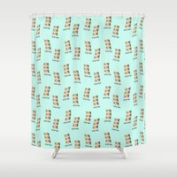 pun Shower Curtains featuring  The three tenners/tenors - awful pun. by funkyworm
