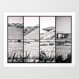atom age ruins Art Print