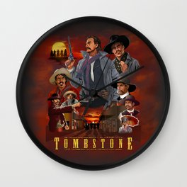Tombstone Wall Clock