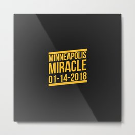 Minneapolis Miracle Metal Print