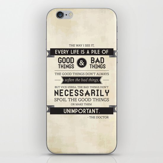 Good Things & Bad Things iPhone & iPod Skin