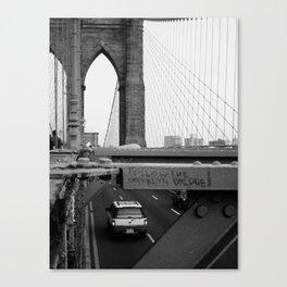 Follow the Bridge Canvas Print