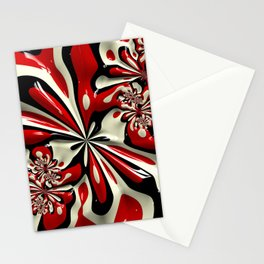Red Moschino Splotch Stationery Cards