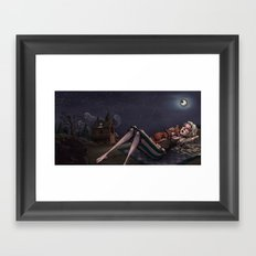 I was too fond of the stars Framed Art Print