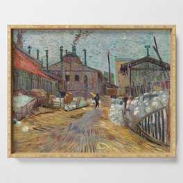 The Factory by Vincent Van Gogh, 1887 Serving Tray
