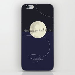Destiny No. 1 | Our journey to the Moon iPhone Skin