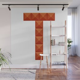 "Letter ""T"" print in beautiful design Fashion Modern Style Wall Mural"