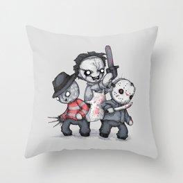 Horror Trifecta Plushie  Throw Pillow