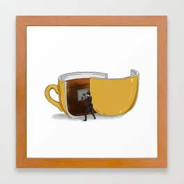 Coffee Confidential Framed Art Print