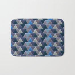 Blue Velvet Triangles Bath Mat