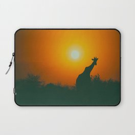 Lonely Sunset Giraffe Laptop Sleeve