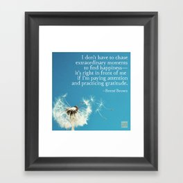 Gratitude and happiness Framed Art Print