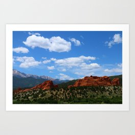 Garden Of Gods View With Kissing Camels Art Print