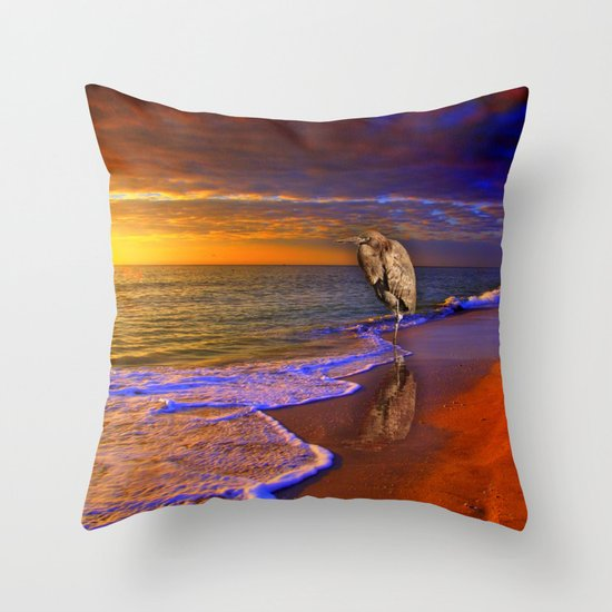 Enjoy the moment.  Sunset over  Sanibel Island, Florida Throw Pillow