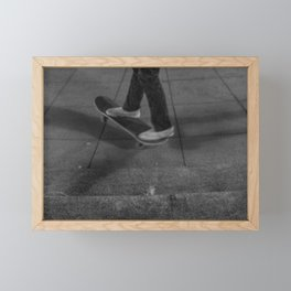 Riding Skateboard, A Framed Mini Art Print