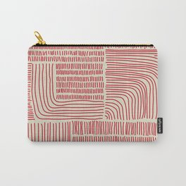 Digital Stitches whole beige + red Carry-All Pouch
