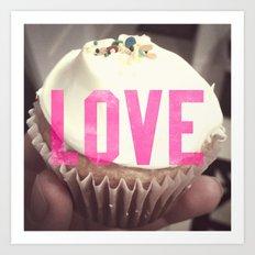 Love Cupcakes Art Print