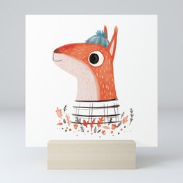 Squirreling out Mini Art Print