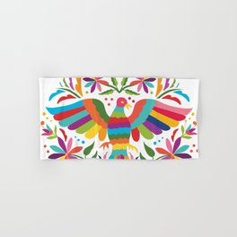 Mexican Otomí Circle Design Hand & Bath Towel