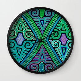 San Blas Indian Diamonds Wall Clock