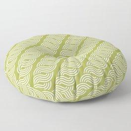shortwave waves geometric pattern Floor Pillow