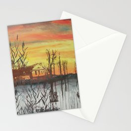 Little Farmhouse in October Stationery Cards