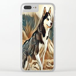 The Siberian Husky Clear iPhone Case