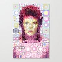david bowie Canvas Prints featuring David Bowie by Artstiles