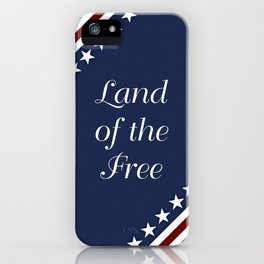 U.S.A. - Land Of The Free iPhone Case