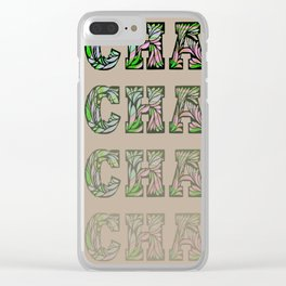 Charming - Tan & Green Clear iPhone Case