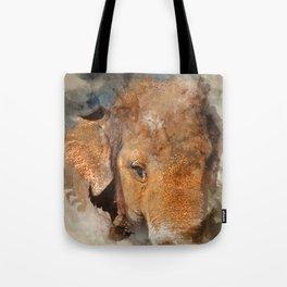 Elephant Watercolour Tote Bag