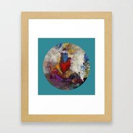 "Odilon Redon ""La roue de la fortune"" Framed Art Print"