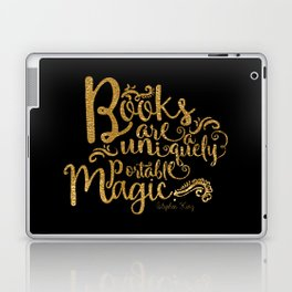 Books are a Uniquely Portable Magic Gold Laptop & iPad Skin