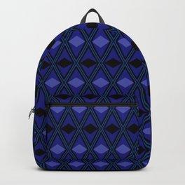 Black and violet rhombus geometric pattern Backpack