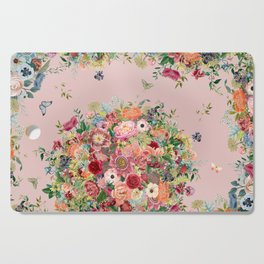 Vintage shell pink bouquet Cutting Board