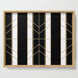 Black & Gold - Art Deco Serving Tray