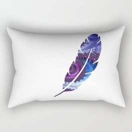 Feathery Flow Feather Cutout - Fractal Art Rectangular Pillow