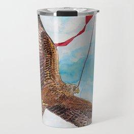 A Kite Flying a Kite Travel Mug
