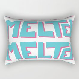 Melted, the solid typography. Rectangular Pillow