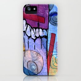 Open Abstract 3 iPhone Case